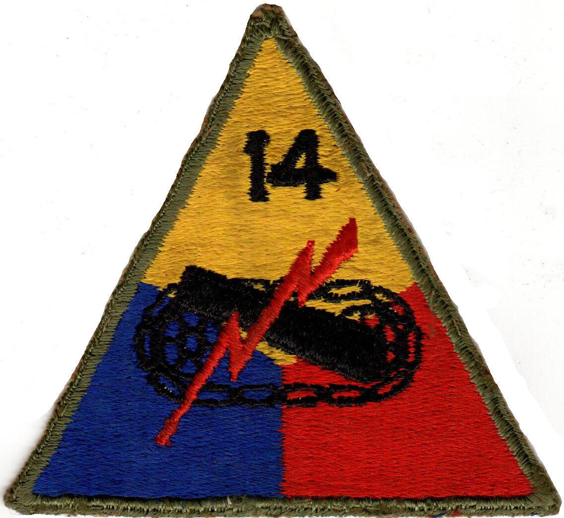 14th Armored Division Patch